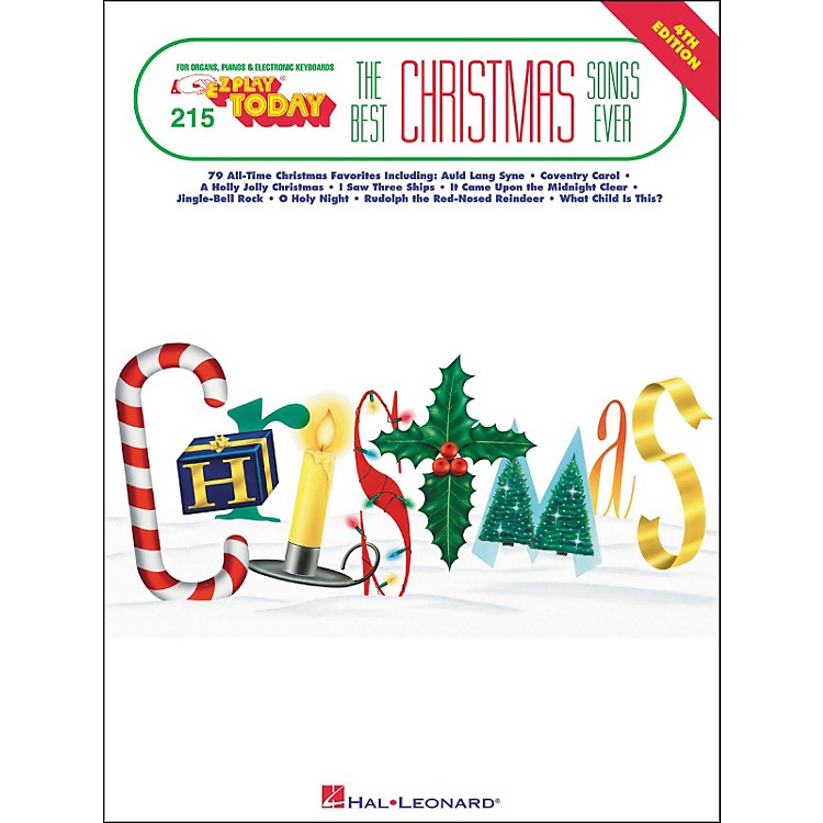 Hal Leonard Best Christmas Songs Ever 4th Edition E-Z Play 215