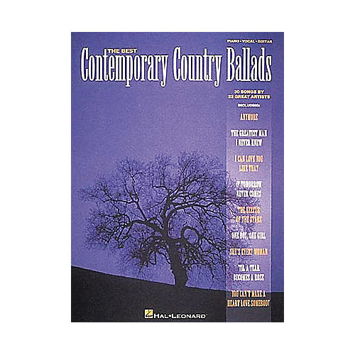 Hal Leonard Best Contemporary Country Ballads Piano, Vocal, Guitar Songbook