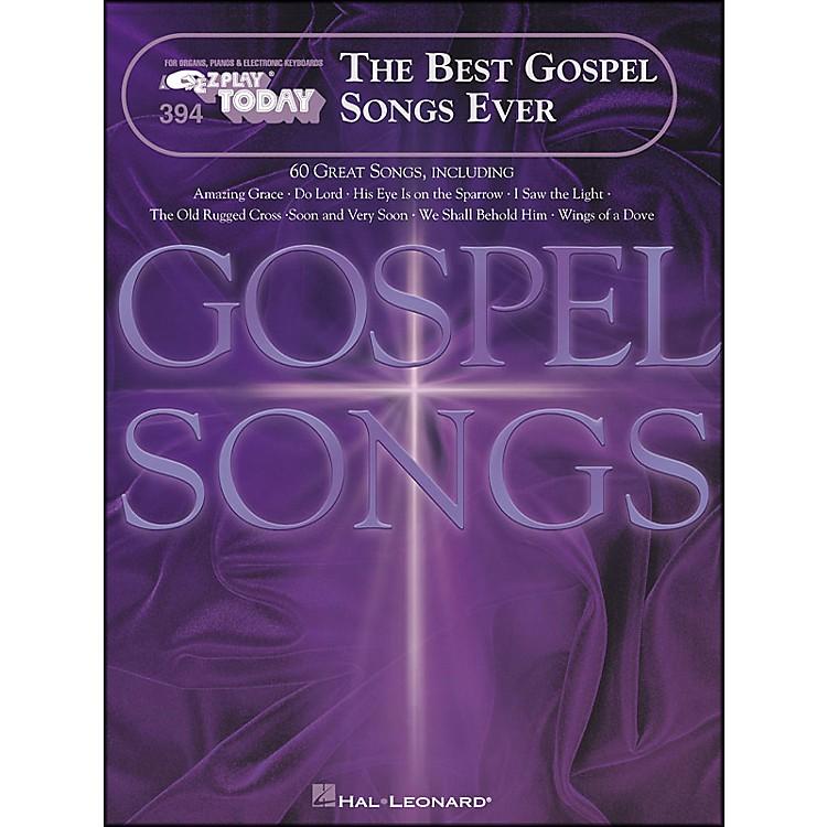 Hal LeonardBest Gospel Songs Ever E-Z Play 394