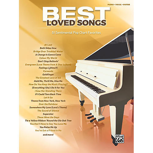 Alfred Best Loved Songs Piano/Vocal/Guitar Songbook-thumbnail
