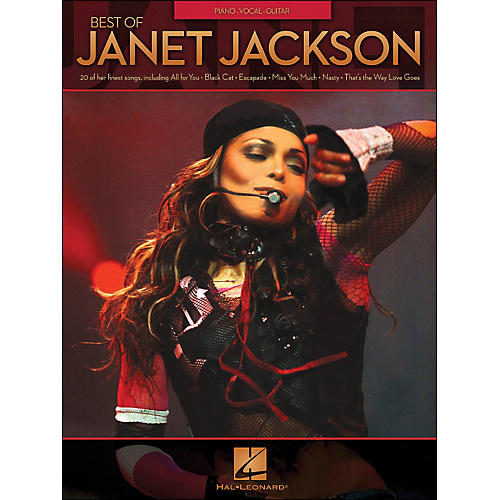 Hal Leonard Best Of Janet Jackson arranged for piano, vocal, and guitar (P/V/G)