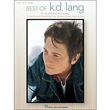 Hal Leonard Best Of KD Lang arranged for piano, vocal, and guitar (P/V/G)