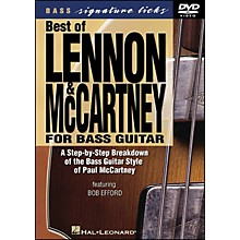 Hal Leonard Best Of Lennon & McCartney for Bass Guitar Signature Licks DVD