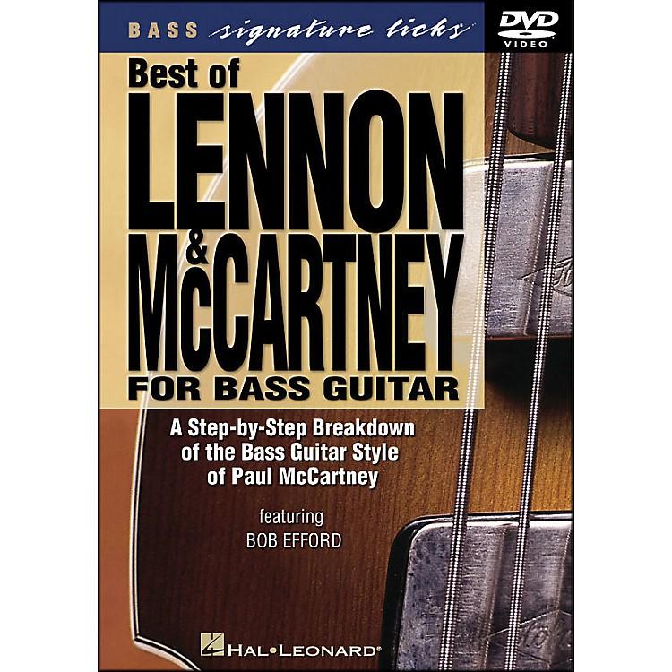 Hal LeonardBest Of Lennon & McCartney for Bass Guitar Signature Licks DVD