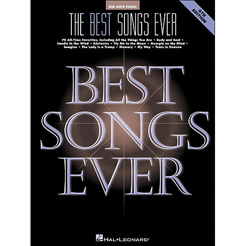 Hal Leonard Best Songs Ever 6Th Edition for Big Note Piano-thumbnail