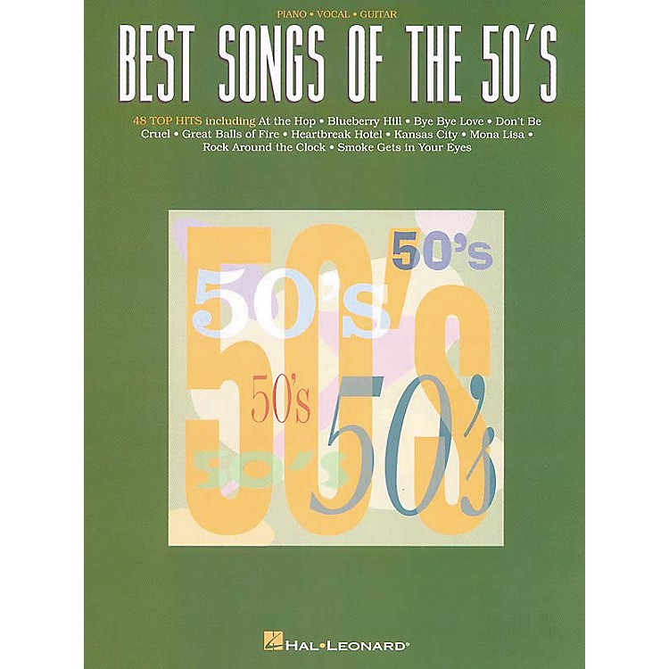 Hal LeonardBest Songs Of The 50's Piano, Vocal, Guitar Songbook