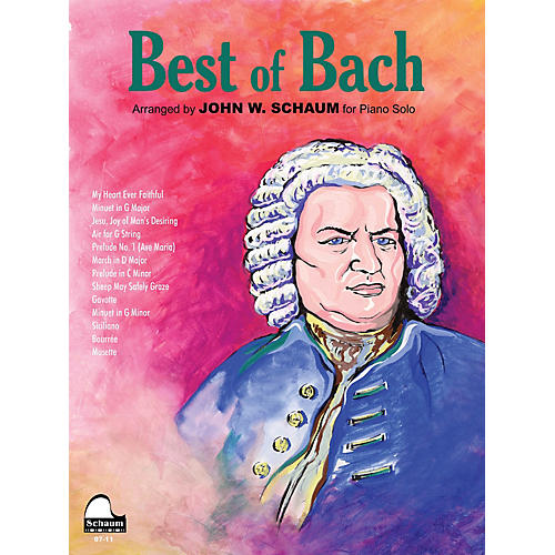SCHAUM Best of Bach Educational Piano Series Softcover-thumbnail