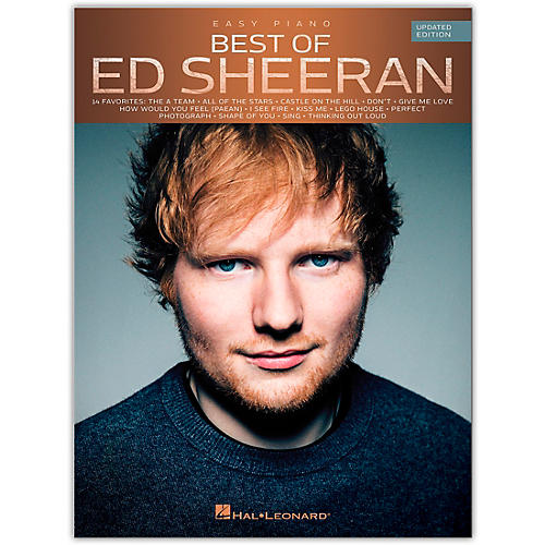 Hal Leonard Best of Ed Sheeran for Easy Piano (Updated Edition) Easy Piano Personality Series Softcover by Ed Sheeran