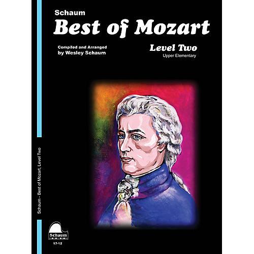 SCHAUM Best of Mozart Educational Piano Book by Wolfgang Amadeus Mozart (Level Late Elem)