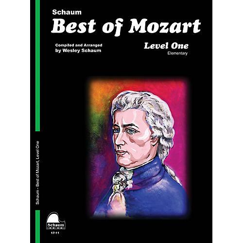 SCHAUM Best of Mozart (Level 1 Elem Level) Educational Piano Book by Wolfgang Amadeus Mozart