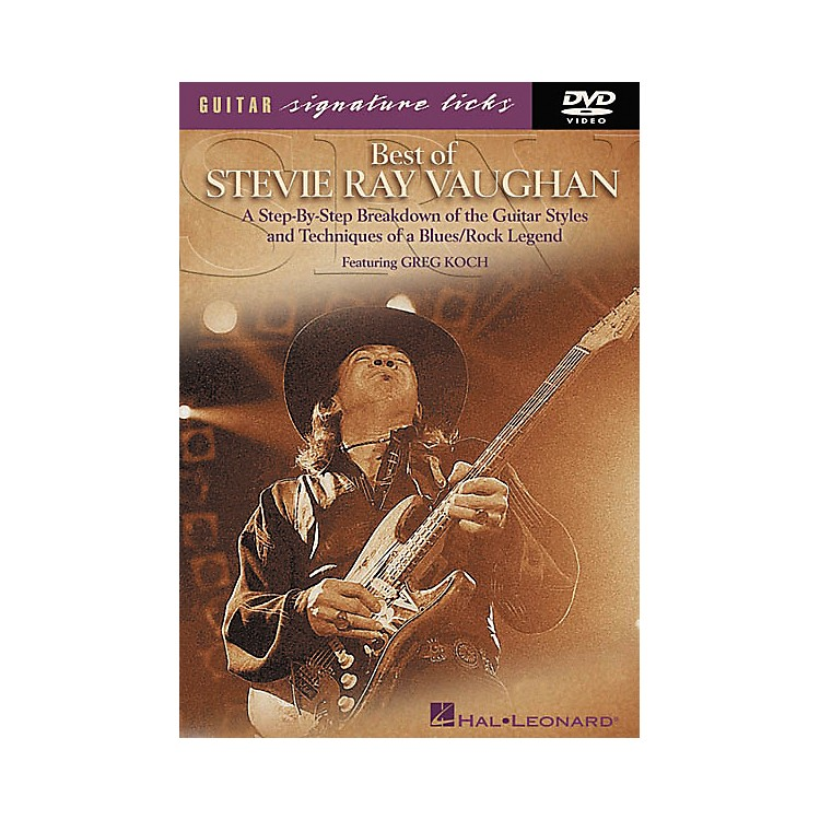 Hal Leonard Best of Stevie Ray Vaughan Signature Licks (DVD)