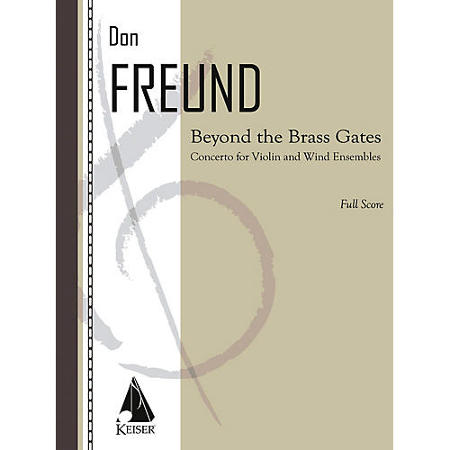 Lauren Keiser Music Publishing Beyond the Brass Gates (Concerto for Violin and Wind Ensemble) LKM Music Series Composed by Don Freund-thumbnail