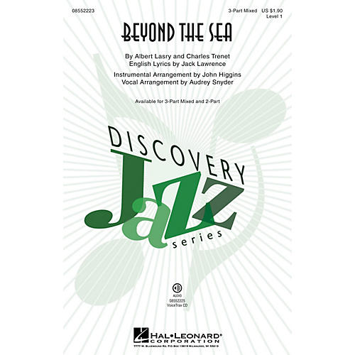 Hal Leonard Beyond the Sea (Discovery Level 1) 3-Part Mixed by Bobby Darin arranged by Audrey Snyder-thumbnail