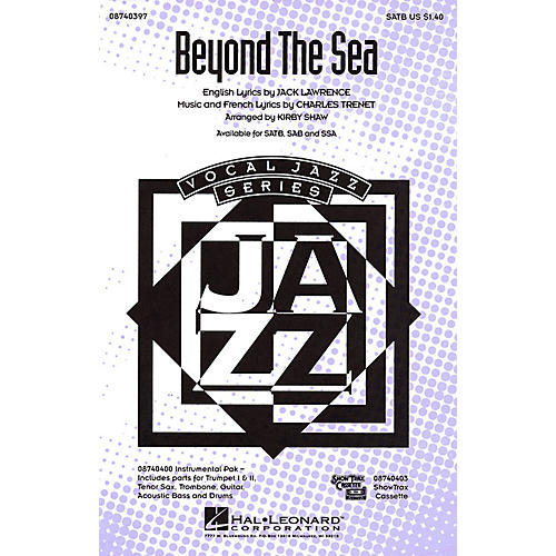 Hal Leonard Beyond the Sea SATB arranged by Kirby Shaw