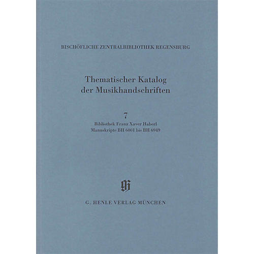 G. Henle Verlag Bibliothek Franz Xaver Haberl Henle Books Series Softcover
