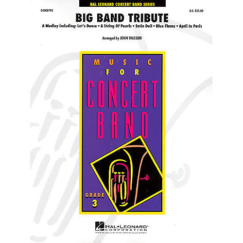 Hal Leonard Big Band Tribute Full Score Concert Band-thumbnail