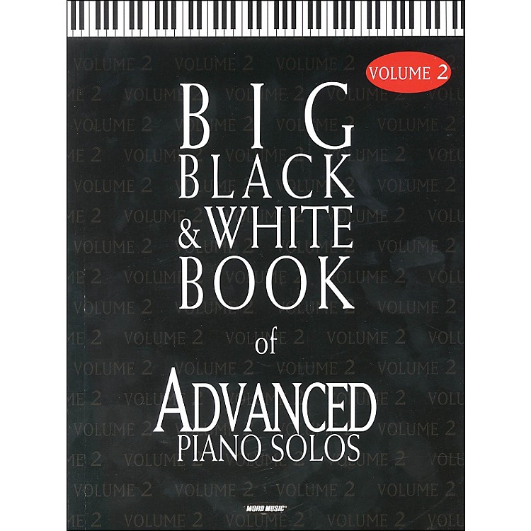 Word Music Big Black & White Book Of Advanced Piano Solos Vol 2