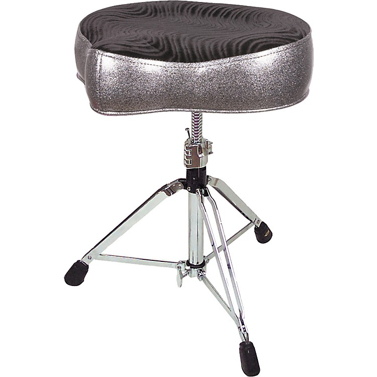 Pork Pie Big Boy Bicycle Throne Silver Sparkle with Black Swirl Top