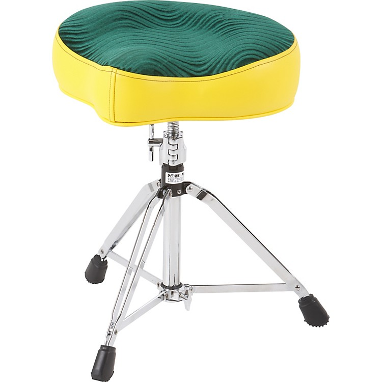 Pork Pie Big Boy Bicycle Throne Yellow with Green Swirl Top