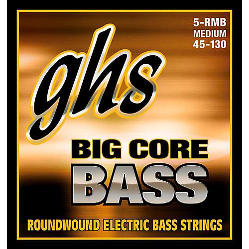 GHS Big Core 5-String Drop Tuning Bass Guitar Strings (45-130)