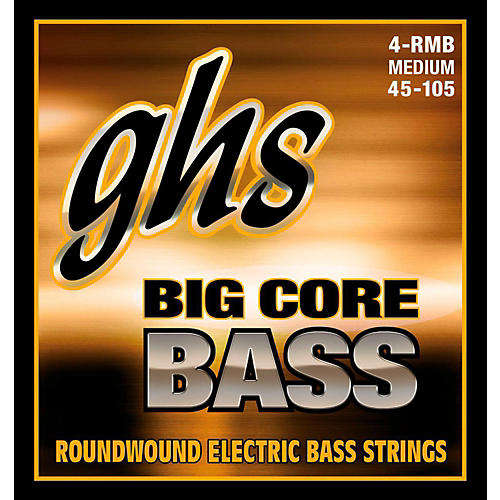 GHS Big Core Drop Tuning Bass Guitar Strings (45-105)-thumbnail