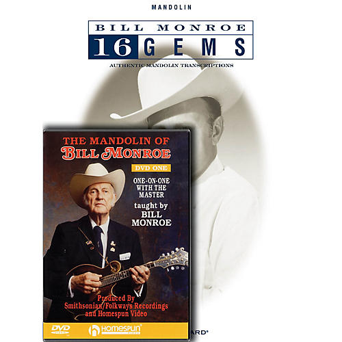 Homespun Bill Monroe Mandolin Pack Homespun Tapes Series Softcover with DVD Performed by Bill Monroe-thumbnail