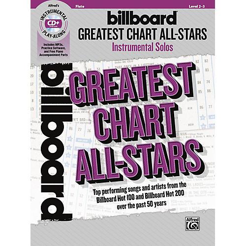 Alfred Billboard Greatest Chart All-Stars Instrumental Solos Flute Book & CD Level 2-3