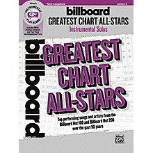 Alfred Billboard Greatest Chart All-Stars Instrumental Solos Tenor Saxophone Book & CD Level 2-3