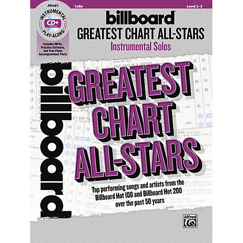 Alfred Billboard Greatest Chart All-Stars Instrumental Solos for Strings Cello Book & CD Level 2-3-thumbnail