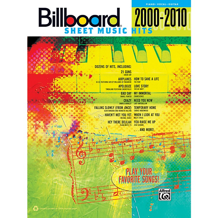 Alfred Billboard Sheet Music Hits 20002010 PVC