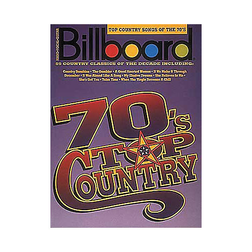 Hal Leonard Billboard Top Country Songs Of The 70's Piano/Vocal/Guitar Songbook-thumbnail