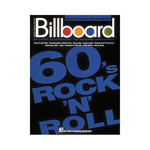 Hal Leonard Billboard Top Rock 'n Roll Hits of the 60's Piano, Vocal, Guitar Songbook
