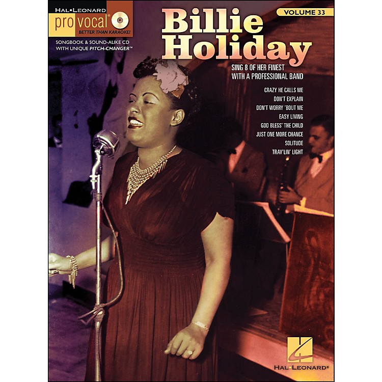 Hal Leonard Billie Holiday Pro Vocal Songbook & CD for Female Singers Volume 33