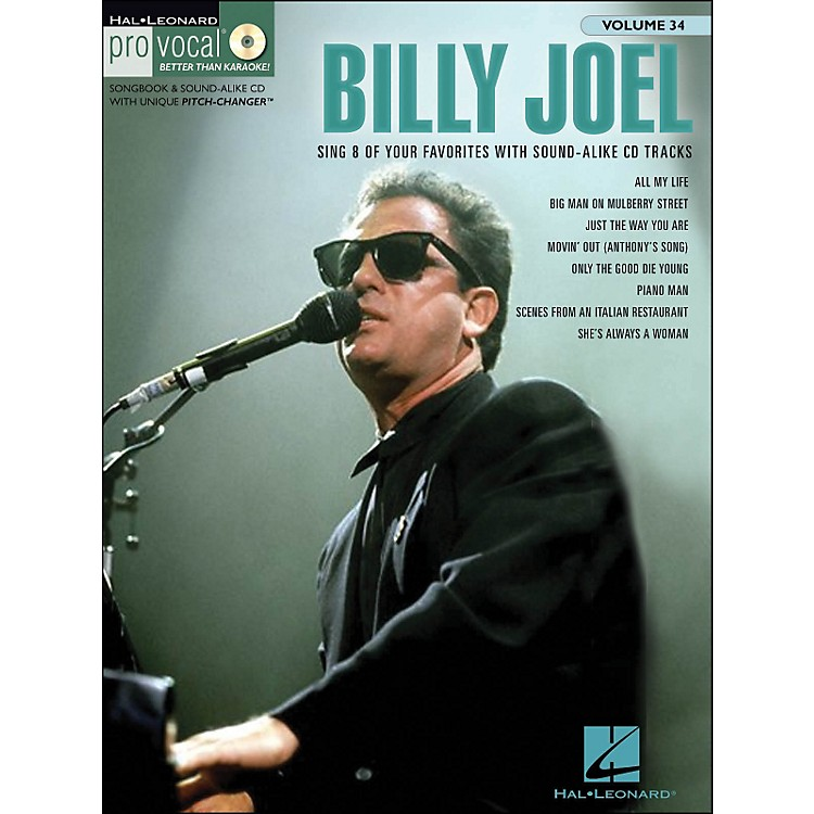 Hal Leonard Billy Joel - Pro Vocal Songbook & CD for Male Singers Volume 34