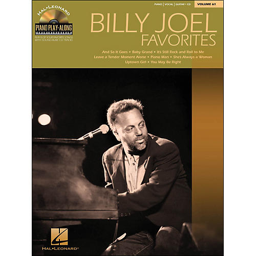 Hal Leonard Billy Joel Favorites Piano Play-Along Volume 61 Book/CD arranged for piano, vocal, and guitar (P/V/G)