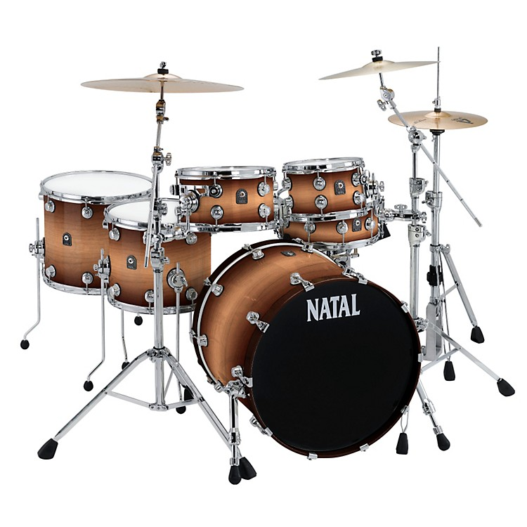 Natal Drums Birch Fusion 22 Plus 6-Piece Shell Pack Tobacco Fade