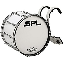 Sound Percussion Labs Birch Marching Bass Drum with Carrier 20 x 14 White