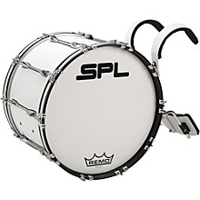 Sound Percussion Labs Birch Marching Bass Drum with Carrier 24 x 14 in. White