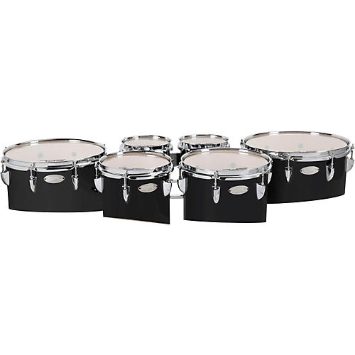 Sound Percussion Labs Birch Marching Tenor Drum with Carrier 6/6/8/10/12/13 Sextet  Black