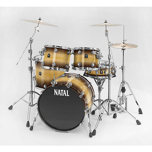 Natal Drums Birch Rock 5-Piece Shell Pack Tobacco Fade