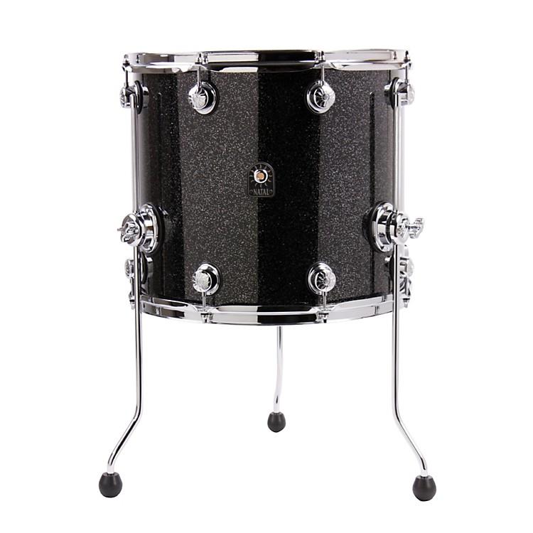 Natal DrumsBirch Series Floor TomBlack Metallic16x14