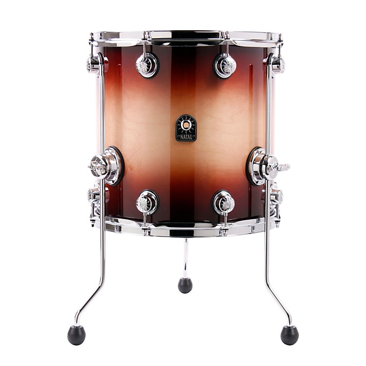 Natal Drums Birch Series Floor Tom Tobacco Fade 14x14