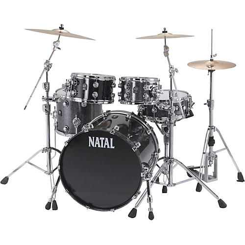 Natal Drums Birch US Fusion X 5-Piece Shell Pack Black Metallic
