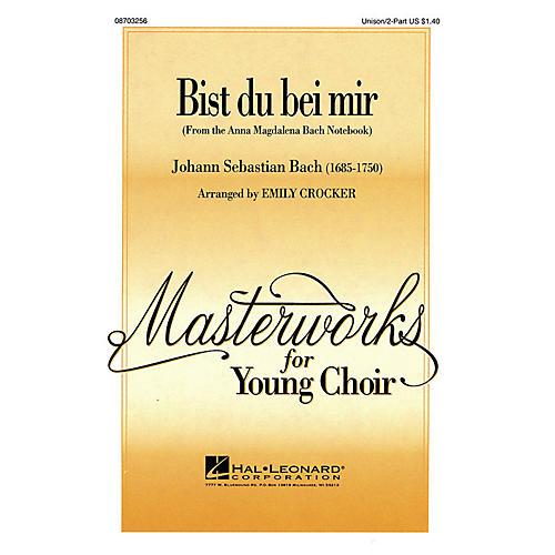 Hal Leonard Bist du bei mir UNIS/2PT arranged by Emily Crocker-thumbnail