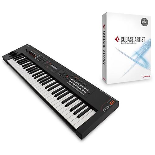 Yamaha Black 61 Key Music Production Synthesizer With Cubase Artist-thumbnail