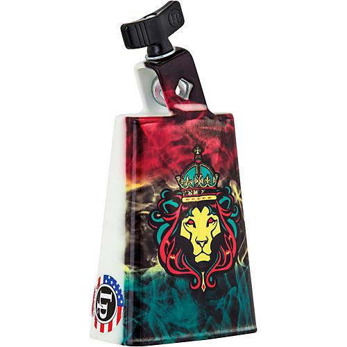 LP Black Beauty Collectabells Cowbell - Rasta Lion Smoke