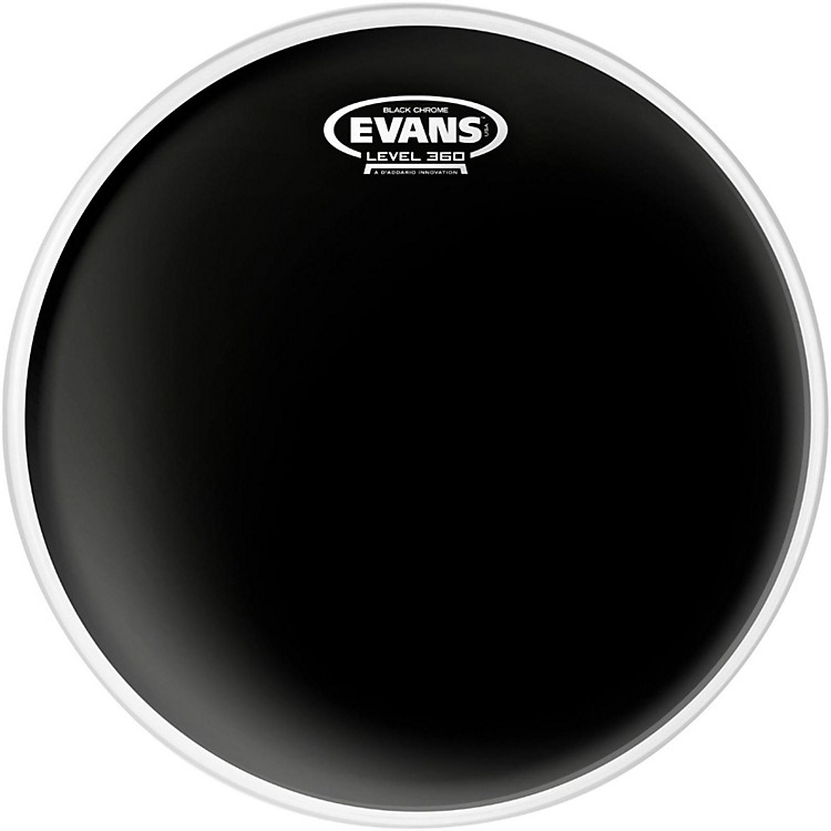 EvansBlack Chrome Tom Batter Drumhead12 Inch