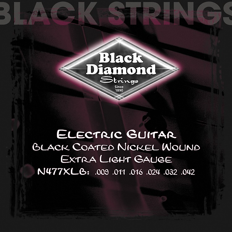 Black Diamond Black Coated Nickel Electric Guitar Strings