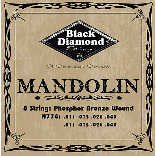 Black Diamond Black Coated Phosphor Bronze Mandolin Strings