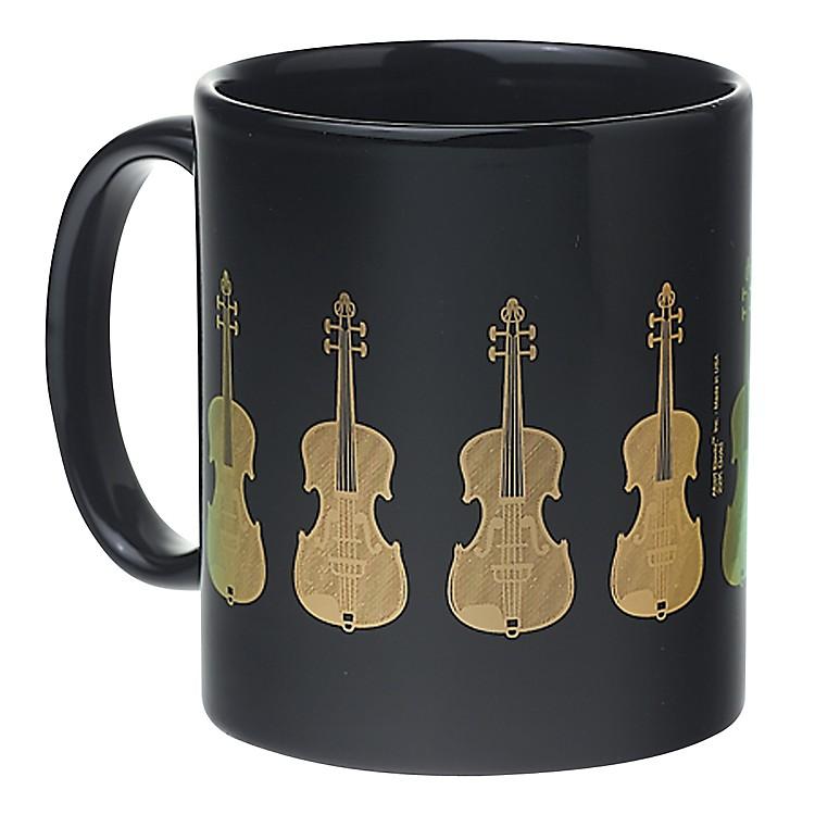 AIMBlack/Gold Violin Coffee Mug